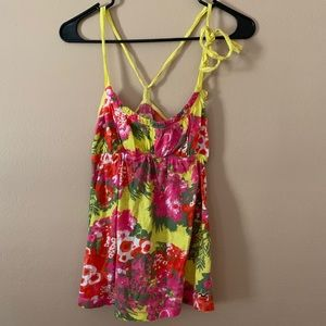 Hollister Floral Tank Top (SMALL)